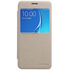 Flip Cover, Nillkin, Sparkle leather pentru Samsung Galaxy J5 (2016), gold