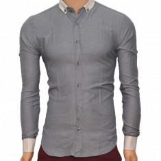 Camasa Slim Fit eleganta barbati - Camasa barbati bumbac (Albastra)