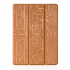 Flip cover, Hoco, Cube Series Leather Case for iPad Mini 4, pentru Apple Ipad mini 4, Maro - Husa Tableta