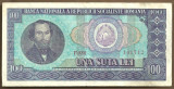 BANCNOTA 100 LEI 1966 AUNC (serie 141712)