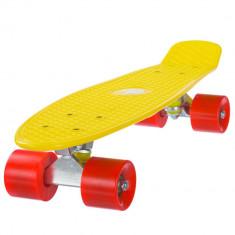 Penny board, Mad Abec-7, Mango Yellow - Skateboard, Marime: 22