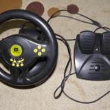 Volan cu pedale Serioux, console jocuri PC