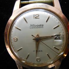 Ceas barbatesc, Nivada Compensamatic 17 rubis, swiss made, functional., Mecanic-Manual