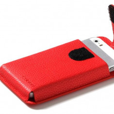 Pouch, Patchworks, iPhone Tag Pouch, pentru Apple iPhone 5/5s/SE, rosie
