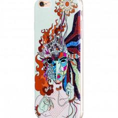 Flip Cover, Hoco, Element Series Mythology Painted, pentru Apple Iphone 6 plus/6 s plus, Firebird (White) - Husa Telefon