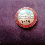 INSIGNA OFICIALA BANCA NATIONALA A RSR -RARA !, Romania de la 1950