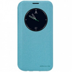 Flip cover, Nillkin, Sparkle leather, pentru Galaxy S7 Edge, albastru