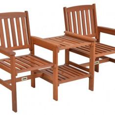 Set din lemn masiv doua scaune si masuta Hecht Teebench