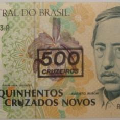 BRAZILIA - BANCNOTA 500 CRUZEIROS UNC - bancnota america