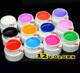 Set de  12 Geluri Pentru  Unghii Lampa UV