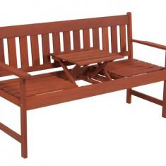 Banca din lemn masiv cu masa Hecht Occasional Bench - Set gradina