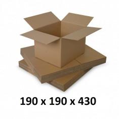 Cutie carton 190 x 190 x 430, natur, ondula C