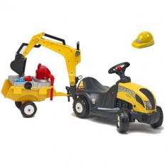 Masinuta Constructor Cu Remorca, Excavator Si Accesorii Falk