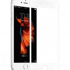 Tempered glass, Hoco, cu rama din ploicarbonat alb, pentru iPhone 6/6s