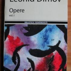 Leonid Dimov - Opere (volumul 1) - Carte poezie
