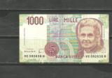 ITALIA 1990 - BANCNOTA 1000 LIRE (MONTESSORI), circulata VF