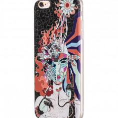 Flip Cover, Hoco, Element Series Mythology Painted, pentru Apple Iphone 6 plus/6 s plus, Firebird (Black) - Husa Telefon