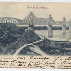 279 - Dobrogea, CERNAVODA, Bridge - old postcard - used - 1903 - Carte Postala Dobrogea pana la 1904, Circulata, Printata