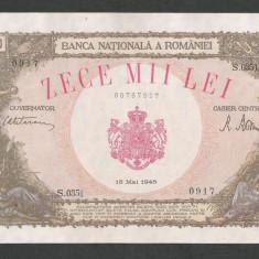 ROMANIA 10000 10.000 LEI 18 MAI 1945 [02] XF+++ - Bancnota romaneasca