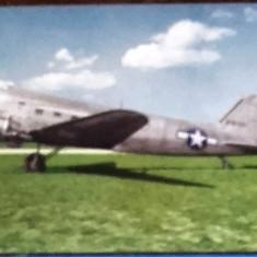 AVION MILITAR C-47. ILUSTRATA MNH. CP2, Necirculata, Fotografie