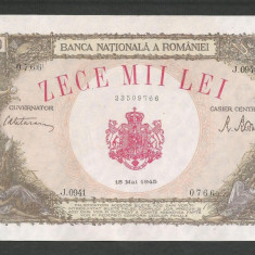 ROMANIA 10000 10.000 LEI 18 MAI 1945 [01] XF+++ / a UNC - Bancnota romaneasca