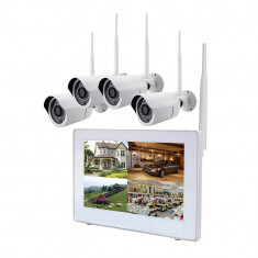 Aproape nou: Kit supraveghere video PNI House WiFi510 NVR cu monitor touchscreen de - Camera CCTV