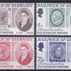 Guernsey 1971 9 Euro timbru pe timbru De la Rue - serie nestampilata MNH - Timbre straine