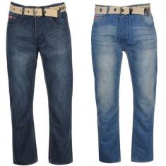 Oferta! Blugi pantaloni Barbati Lee Cooper Belted - originali
