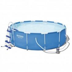Piscina Bestway® 56418, dimensiune 3.66x1.00 m, pompa, filtru, scara incluse