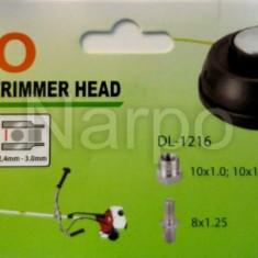 Tambur motocoasa pas 1mm 10mm sau 8mm cap metal cu adaptori compatibil Stihl