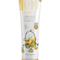 Pasta de dinti naturala pentru copii 1+ cu aroma de ananas, 75 ml - Biobaza - Cosmetice copii