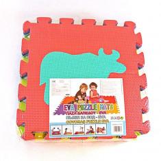 Saltea de joaca pentru copii - covoras Puzzle Cifre si Animale - 0, 90 mp - Saltea Copii, Altele, Alte dimensiuni