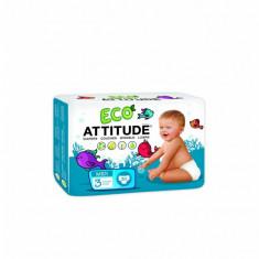 Scutece ecologice Attitude de unica folosinta marime 3 (5-11kg), 30 bucati - Scutece unica folosinta copii