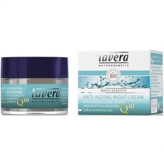 Crema de noapte antirid cu coenzima Q10, Basis Sensitiv, 50 ml, Lavera - Crema antirid