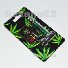 PIPA Metal Pipe Jamaica Rasta Weed, Tabac, Tutun + 5