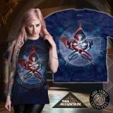Tricou The Mountain - Dragoni în pentagramă (Mărime: S) - Tricou barbati, Maneca scurta