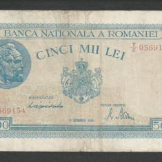ROMANIA 5000 5.000 LEI 10 Octombrie 1944 [1] P-55 - Bancnota romaneasca