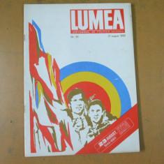 Lumea 1980 Ceausescu 23 august reclama Timpuri Noi Materna T. Melescanu