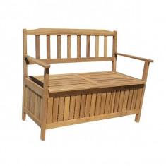 Banca din lemn masiv cu spatiu de depozitare HECHT SPACE - Banca de gradina