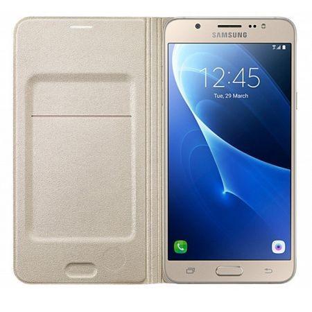 Husa Samsung EF-WJ710PFEGWW tip carte aurie pentru Samsung Galaxy J7 (2016) J710 foto mare