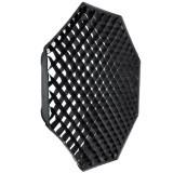 Softbox octogonal octobox 120cm cu grid - montura Bowens