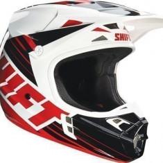 MXE Casca Motocross Shift MX V1 Assault Race negru/alb Cod Produs: 16109018SAU