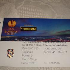 Bilet meci fotbal - CFR Cluj - Internationale Milano - 21.02. 2013