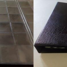 Clasor cu 5 folii Optima pentru 120 monede - album clasor