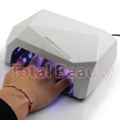 Lampa UV LED Hybrid 36W DOUBLE Light LED, Timer, Senzor, White - Uscare Rapida