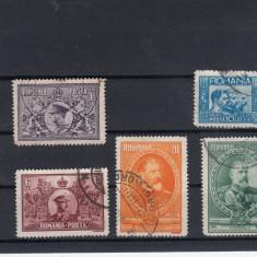 ROMANIA 1931, LP 91, SEMICENTENARUL REGATULUI SERIE STAMPILATA - Timbre Romania