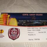 Bilet meci fotbal - CFR Cluj - Sparta Praga - 05. 11. 2009 - Europa League