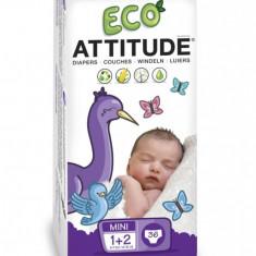 Scutece ecologice de unica folosinta marime 1-2 (3-7kg), 36 bucati - Scutece unica folosinta copii