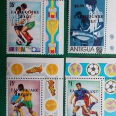 Antigua sport CM fotbal Munchen'74 supratipar - serie nestampilata MNH - Timbre straine