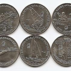 Romania Set Atlanta Olimpiada 10 Lei 1996 X 6 Bucati, 23 mm, UNC !! - Moneda Romania, An: 1966
